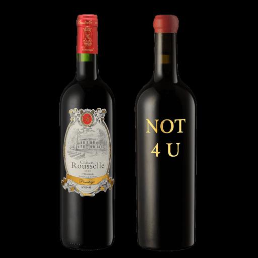 Vin rouge Domaine Serene en bouteille de 75 cl.