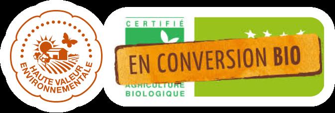 Labels bio et Haute Valeur Environnementale (HVE).